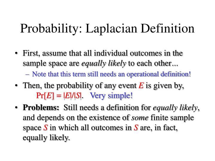 Probability: Laplacian Definition