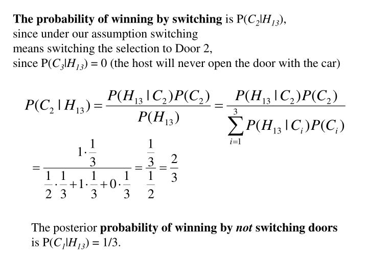 The probability of winning by switching