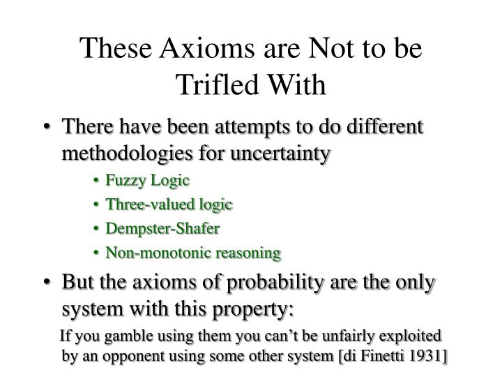 These Axioms are Not to be Trifled With