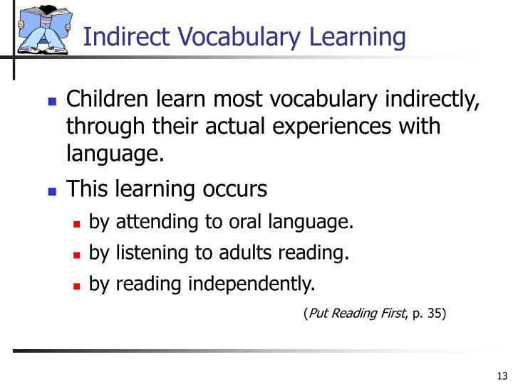 Indirect Vocabulary Learning