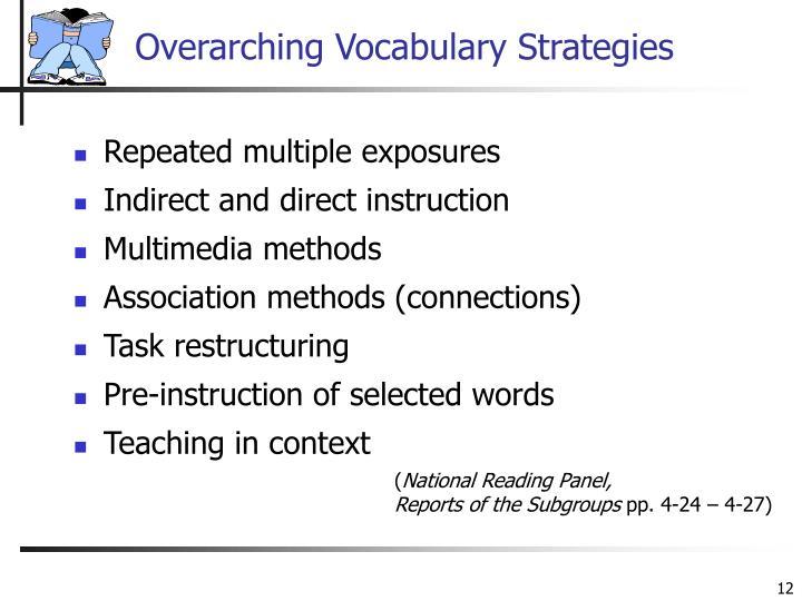 Overarching Vocabulary Strategies