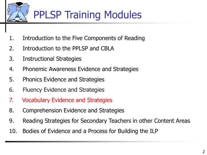 Pplsp training modules