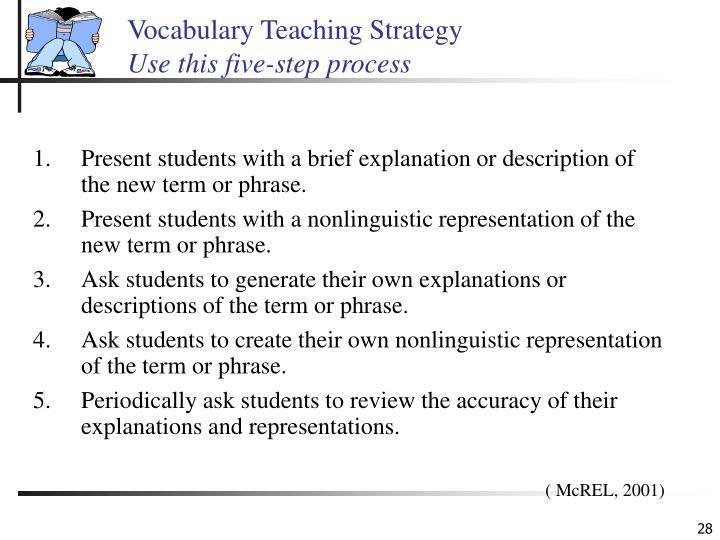 Vocabulary Teaching Strategy