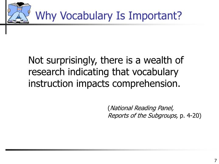 Why Vocabulary Is Important?