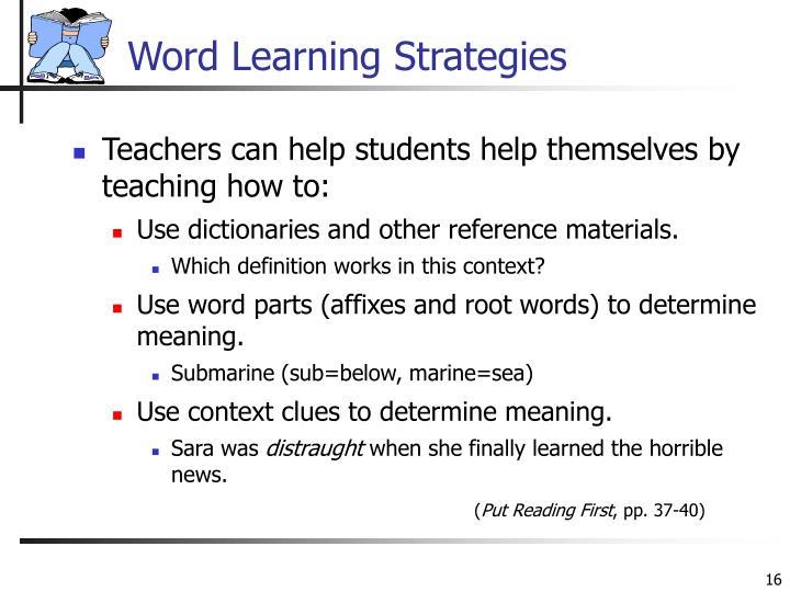 Word Learning Strategies