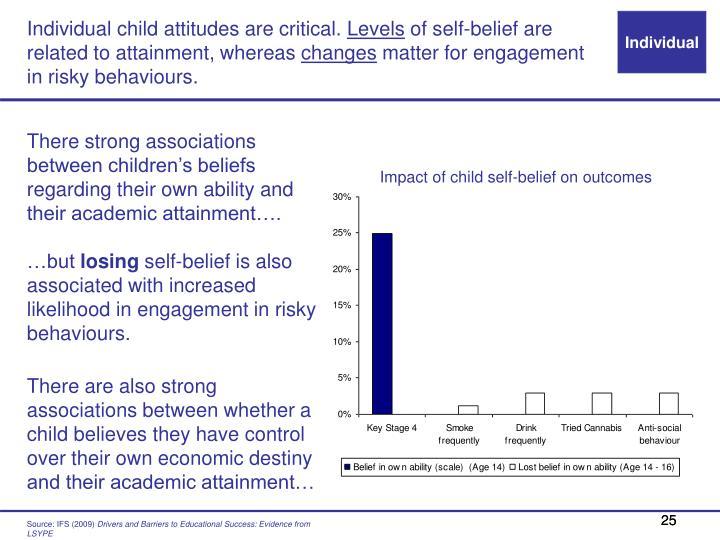 Individual child attitudes are critical.
