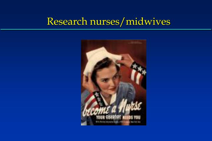 Research nurses/midwives