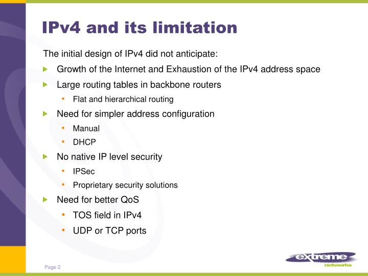 Ipv4 and its limitation