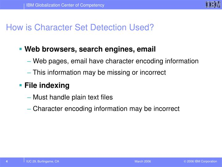How is Character Set Detection Used?