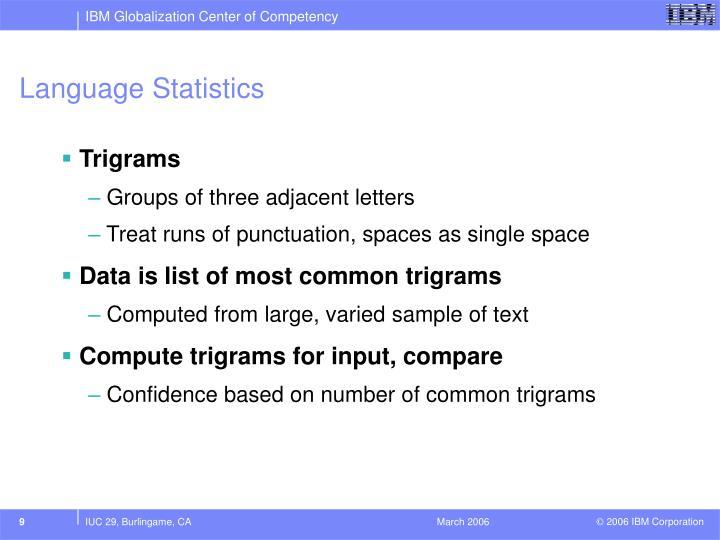 Language Statistics