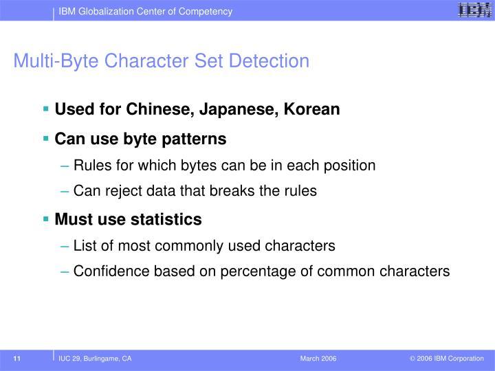 Multi-Byte Character Set Detection