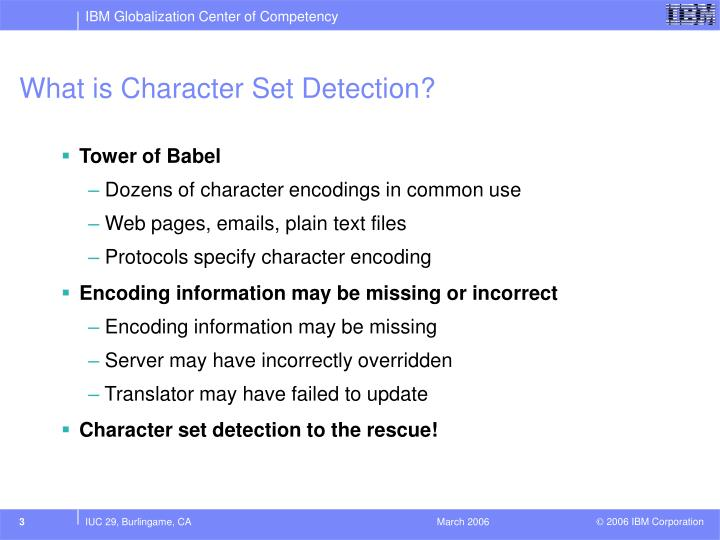 What is character set detection
