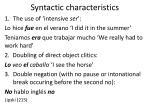 syntactic characteristics