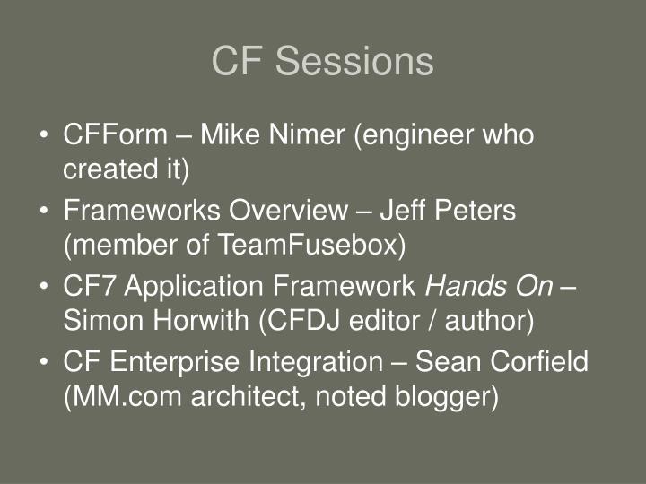CF Sessions
