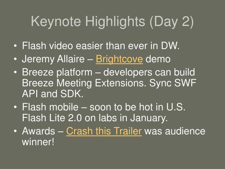 Keynote Highlights (Day 2)