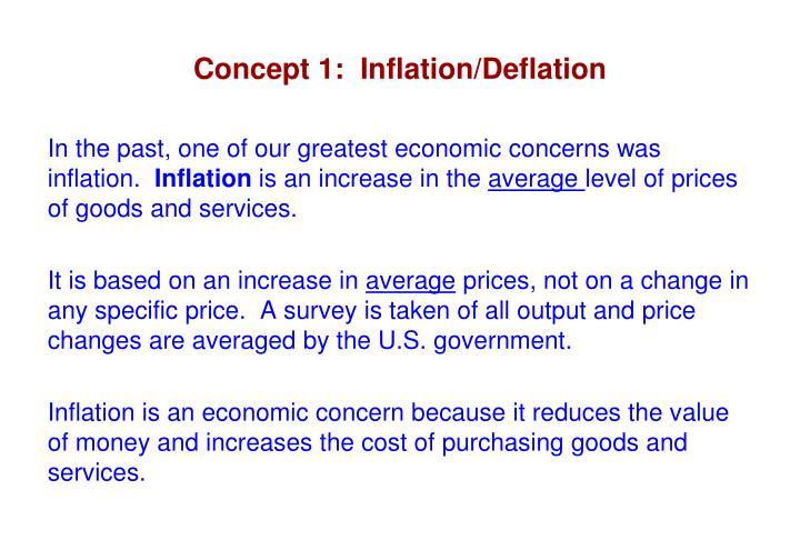 Concept 1 inflation deflation