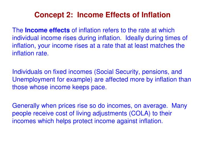 Concept 2:  Income Effects of Inflation