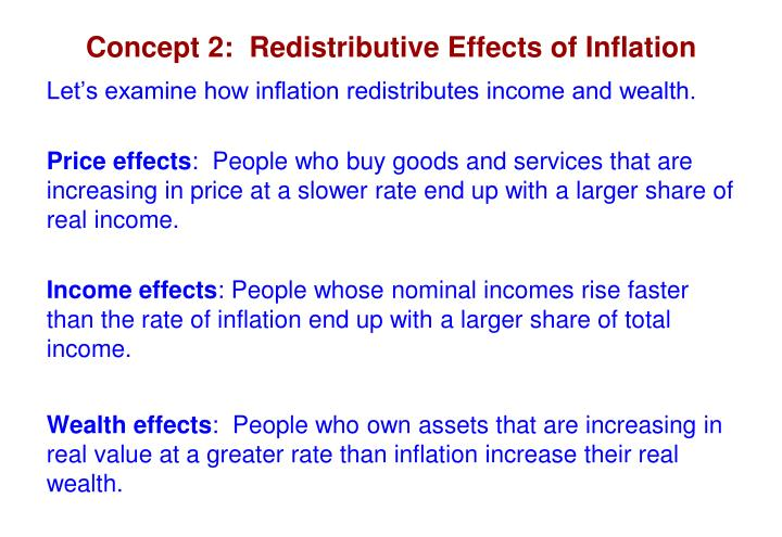 Concept 2:  Redistributive Effects of Inflation
