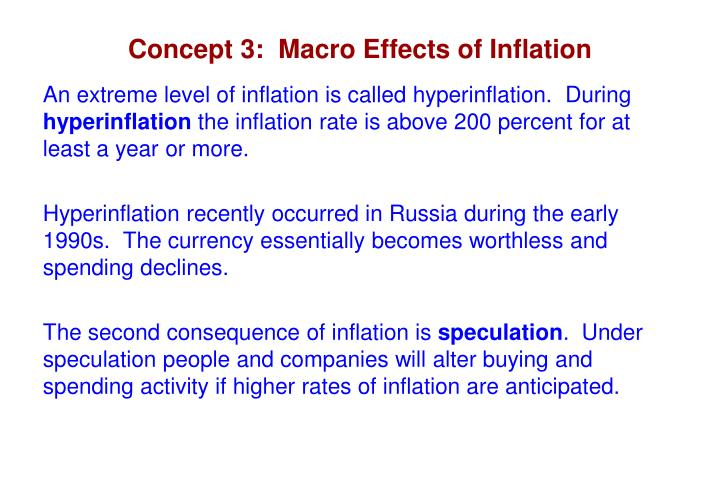 Concept 3:  Macro Effects of Inflation