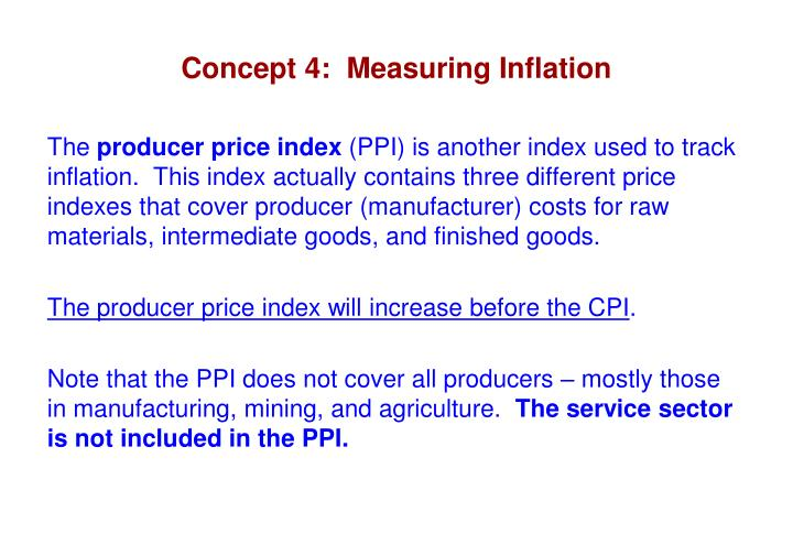 Concept 4:  Measuring Inflation