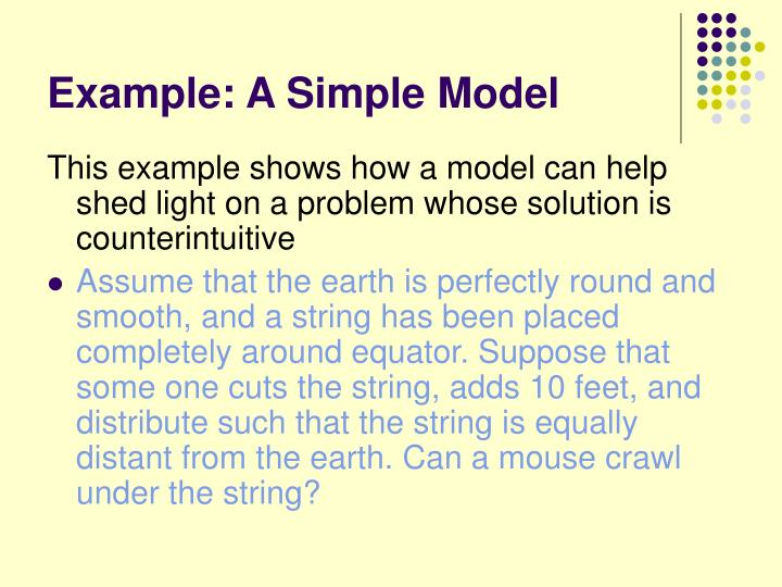 Example: A Simple Model
