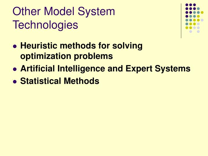 Other Model System Technologies