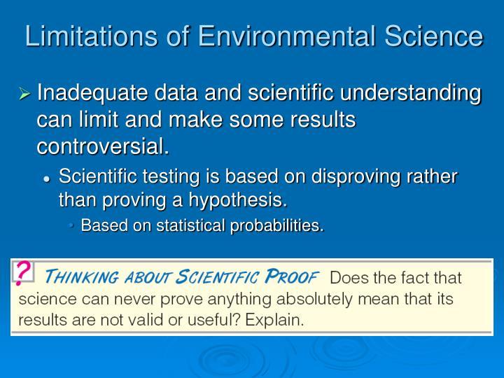 Limitations of Environmental Science