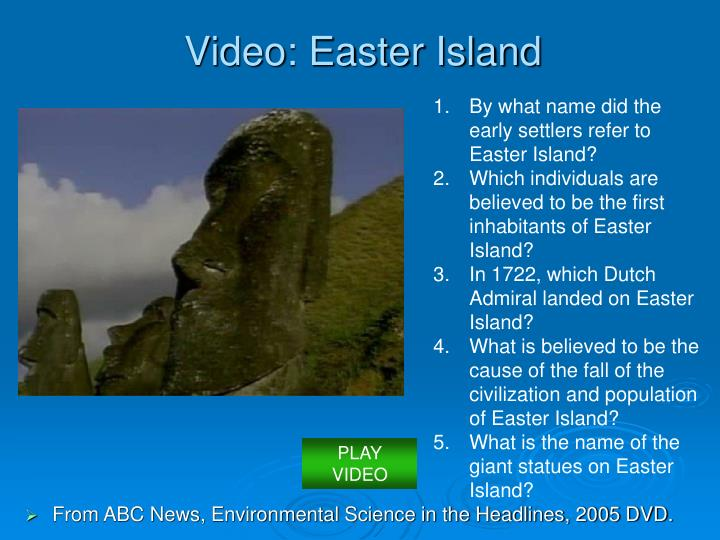 Video easter island