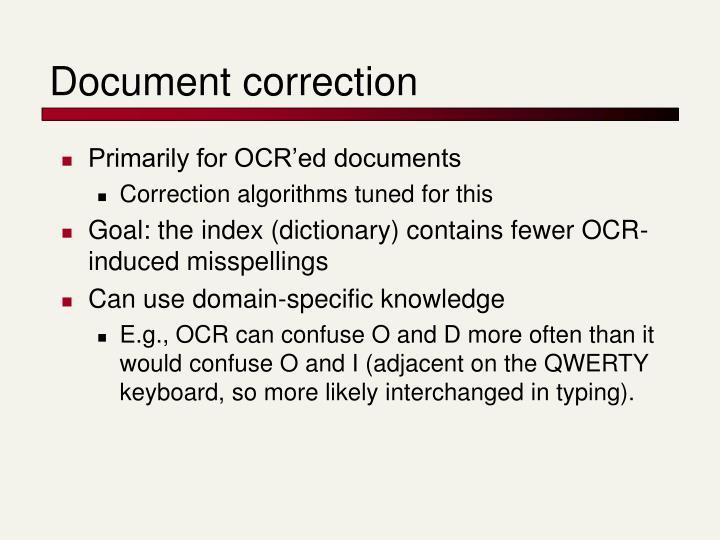 Document correction