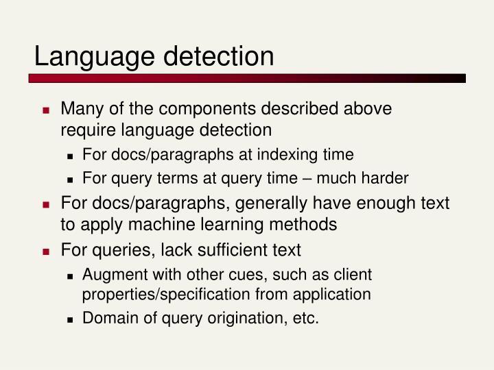 Language detection