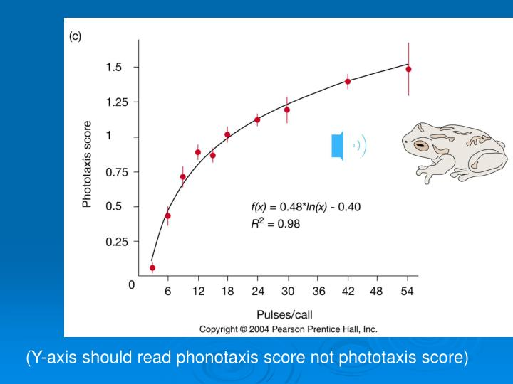 (Y-axis should read phonotaxis score not phototaxis score)