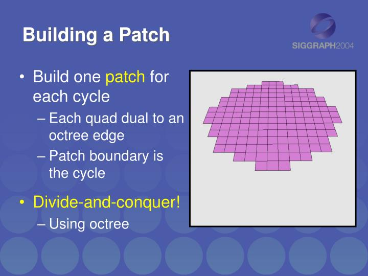 Building a Patch