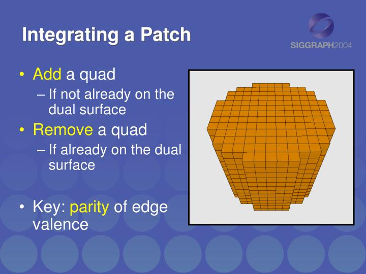 Integrating a Patch