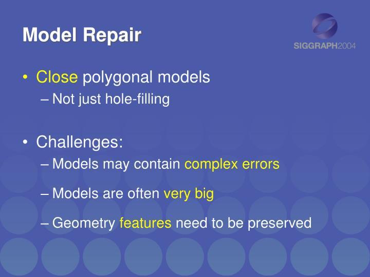 Model Repair