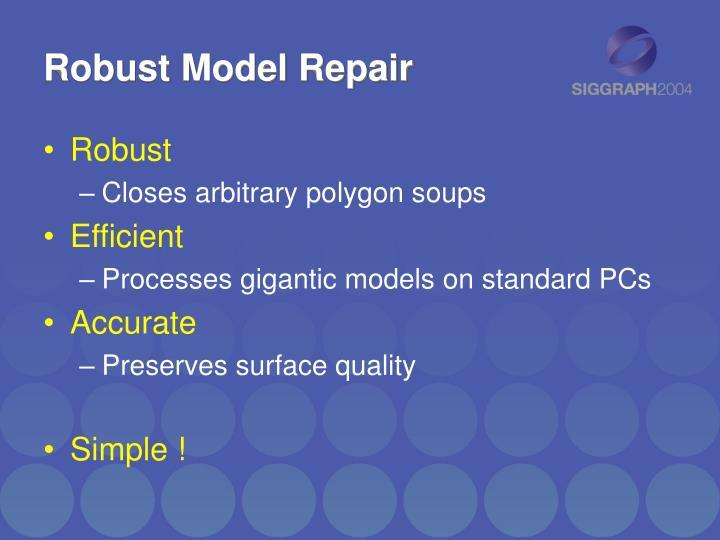 Robust Model Repair
