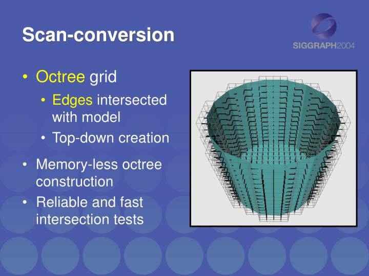 Scan-conversion