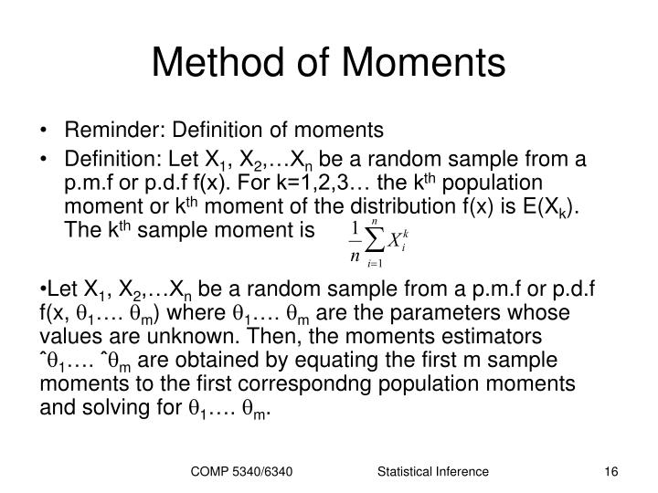Method of Moments