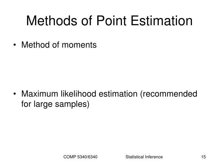 Methods of Point Estimation