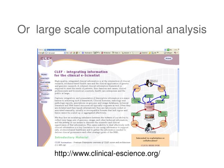 Or  large scale computational analysis