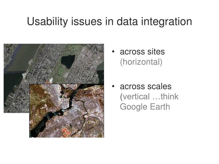 Usability issues in data integration