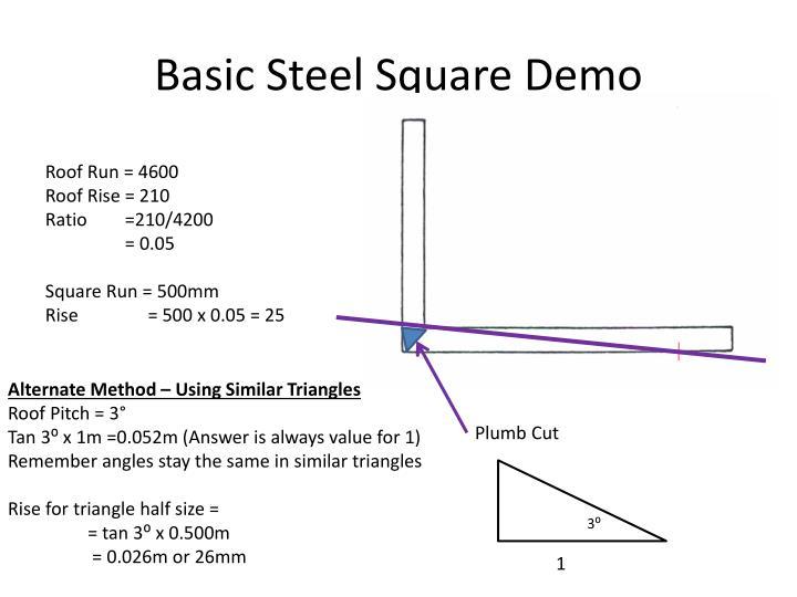 Basic Steel Square Demo