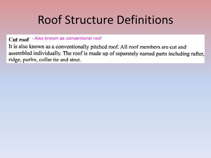 Roof Structure Definitions