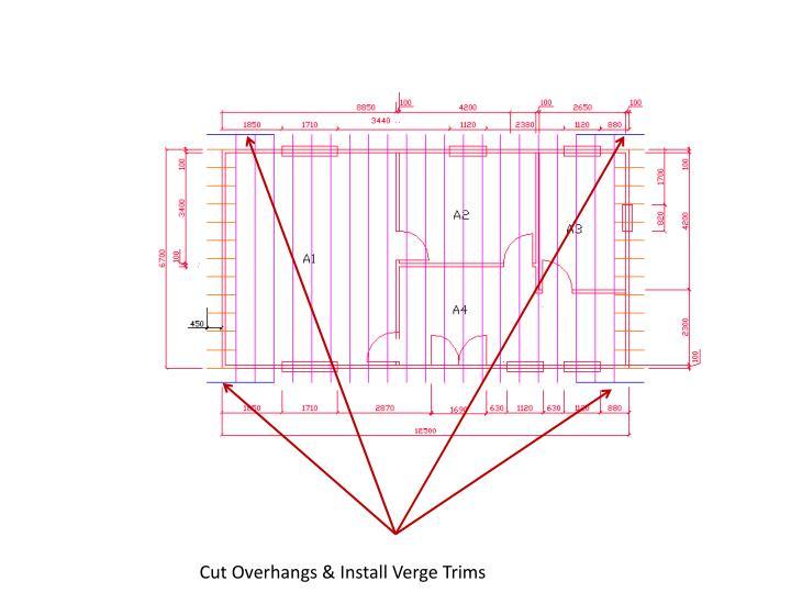 Cut Overhangs & Install Verge Trims