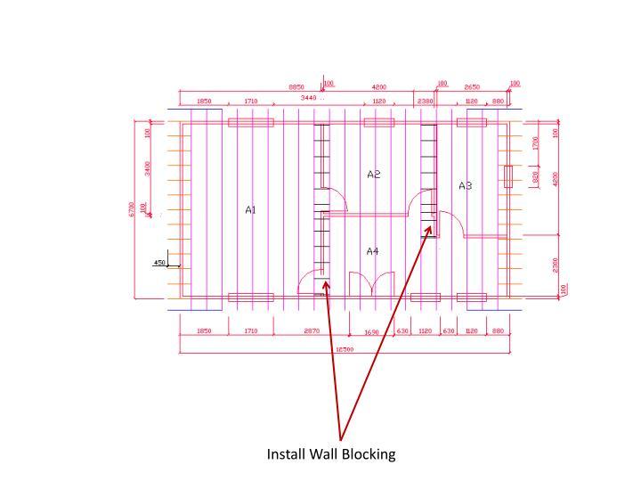 Install Wall Blocking