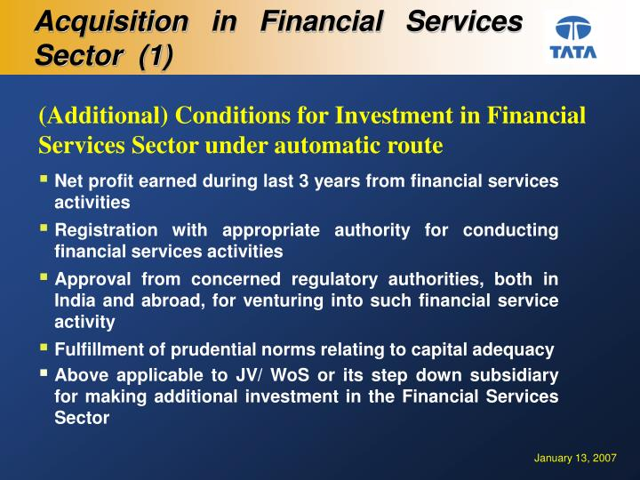 Acquisition in Financial Services Sector  (1)