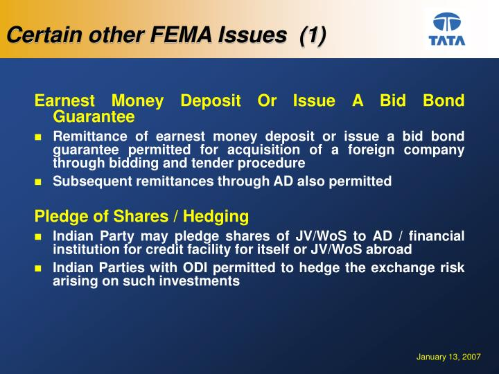 Certain other FEMA Issues  (1)