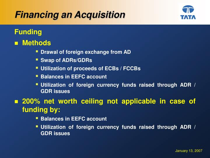 Financing an Acquisition