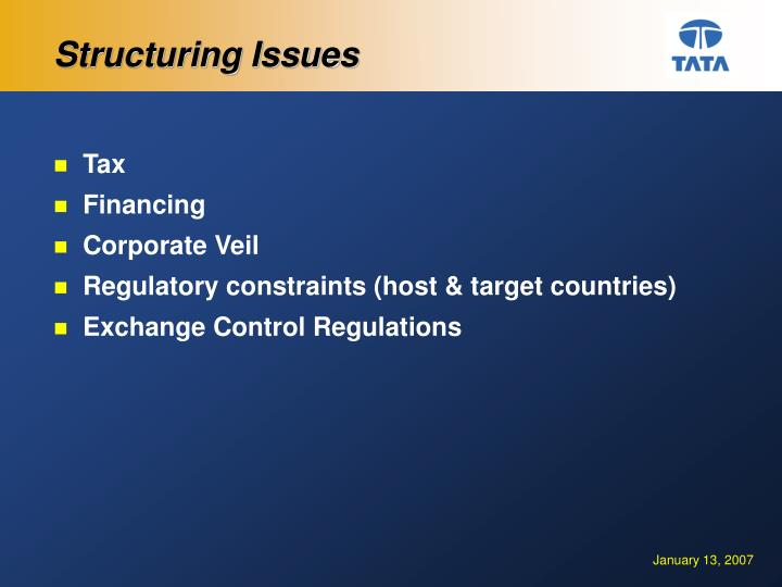 Structuring Issues