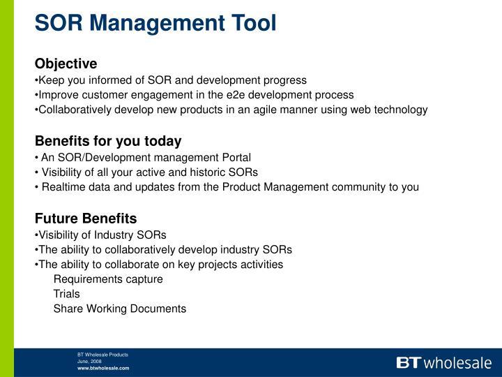 Sor management tool2