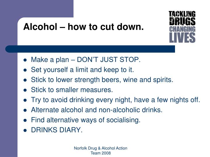 Alcohol – how to cut down.